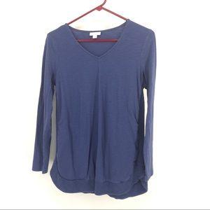 J Jill S Top Front Pockets Long Sleeves Knit